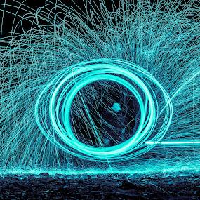 ٍShadow Man by Wissam Chehade - Abstract Fire & Fireworks ( light painting, steel wool, uae, night, long exposure, alaqqa beach )