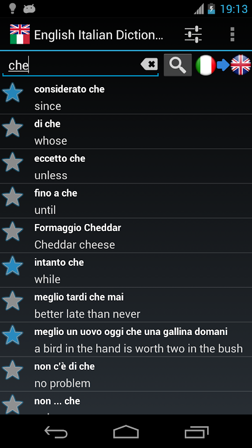 Offline English Italian Dict. - screenshot