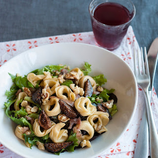 Tortellini Salad with Figs, Walnuts, Prosciutto & Greens
