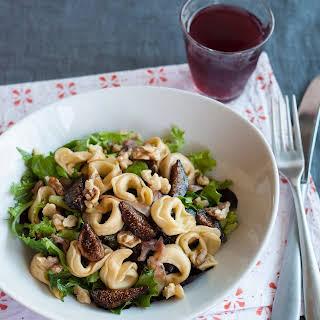 Tortellini Salad with Figs, Walnuts, Prosciutto & Greens.