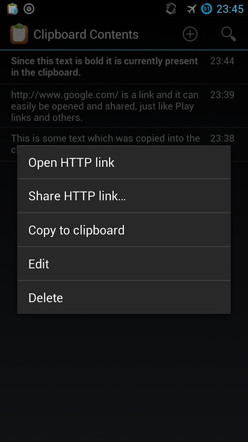 Clipboard Contents - screenshot