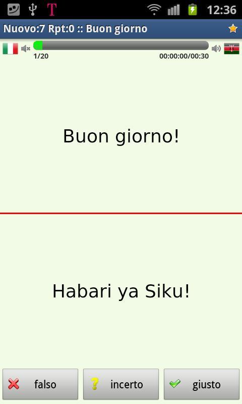 Imparare lo swahili- screenshot
