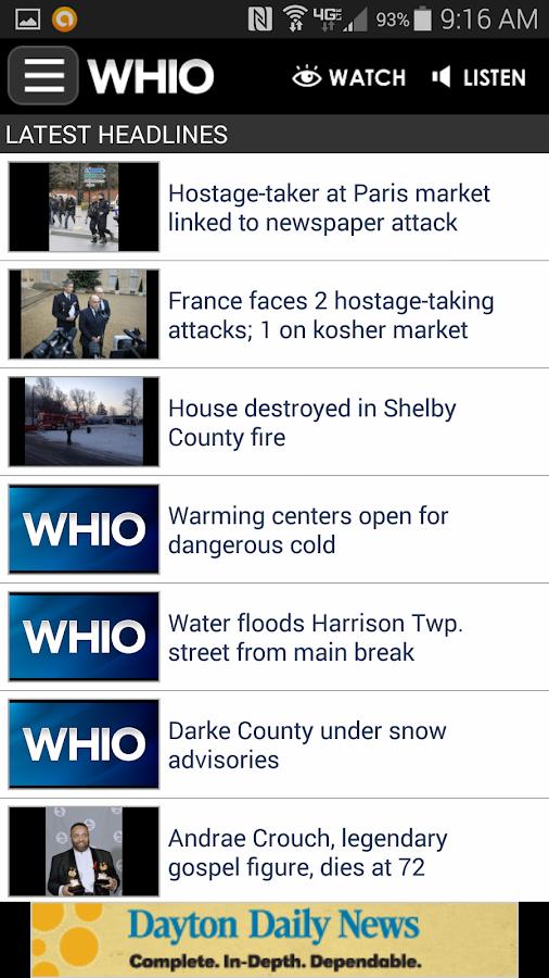 WHIO - screenshot