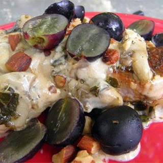 Pork Chops with Grapes and Almonds