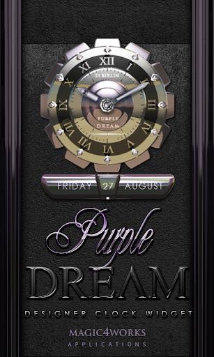 Purple Dream Clock Widget