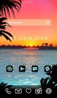 Screenshot of Cute wallpaper★Rainbow sunset