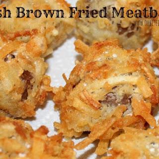 ~Hash Brown Fried Meatballs!