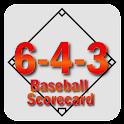 6-4-3 Baseball Scorecard logo