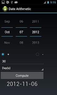Date Arithmetic- screenshot thumbnail