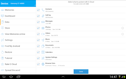 G Cloud Backup Screenshot 2