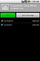 Screenshot of My Call Log