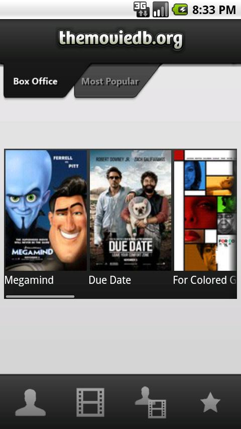 The Movie Database- screenshot