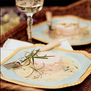 Seafood Timbales with Tarragon Beurre Blanc.
