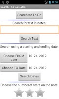 Screenshot of To Do Notes