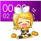 Chibi Rin Clock Widget (2x4)