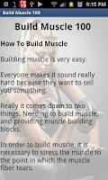 Screenshot of Build Muscle 100