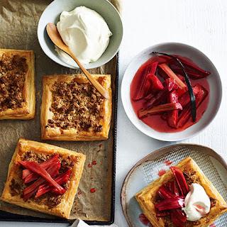 Almond Tarts With Rhubarb