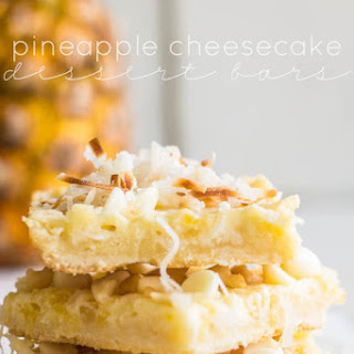 Pineapple Cheesecake Dessert Bars