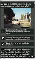 Screenshot of test DGT: Examen Autoescuela