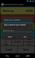 Screenshot of Interval Workout Counter