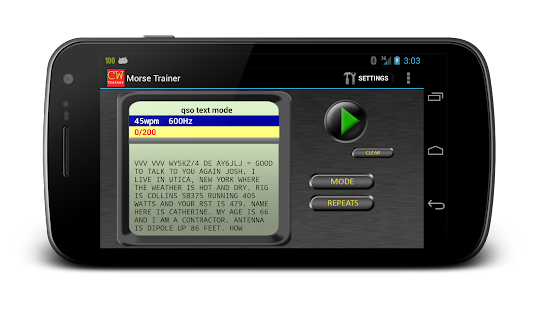 Morse Trainer for Ham Radio – Miniaturansicht des Screenshots