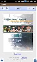 Screenshot of Virginia DMV