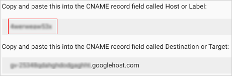 CName Label/Host Field Verification Code