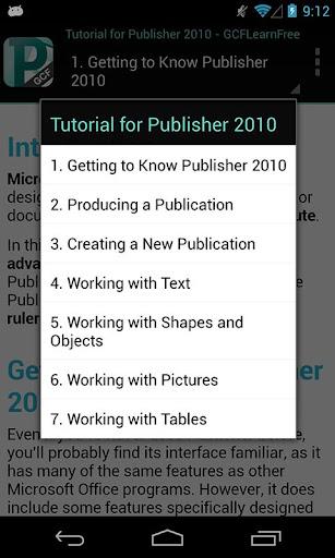 GCF Publisher 2010 Tutorial
