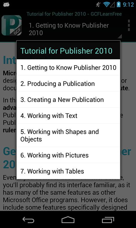 GCF Publisher 2010 Tutorial - screenshot