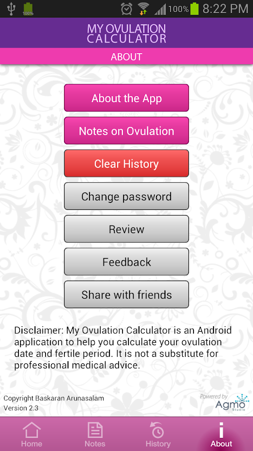 My Ovulation Calculator- screenshot