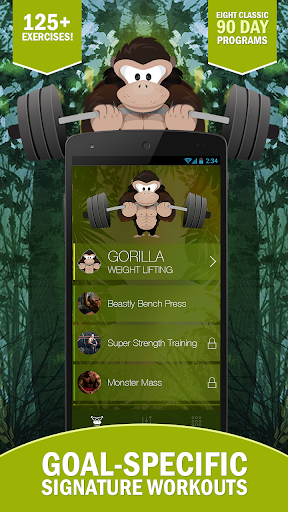 Gorilla Weight Lifting: Strong