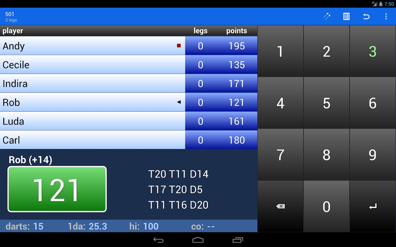 Darts Scoreboard - screenshot