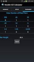 Screenshot of Wendler 531 Calculator Lite