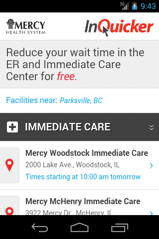 Mercy Health System Illinois- screenshot