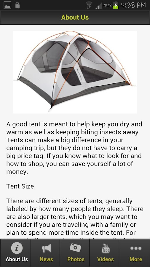 Camping Tents - screenshot