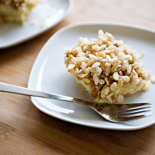 French Toast with Candied Rice Krispies