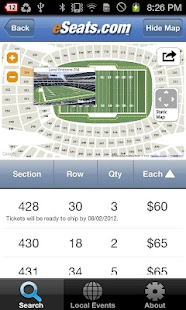eSeats Tickets App - screenshot thumbnail