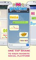 Screenshot of WordArt Chat Sticker