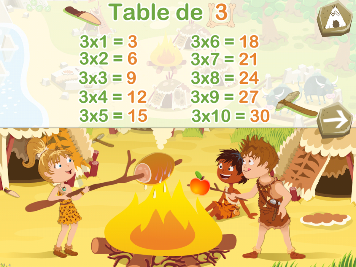 Tables de multiplication lite applications android sur for Table de multiplication 6