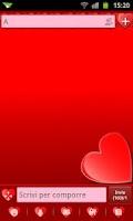 Screenshot of GO SMS Hearts Theme