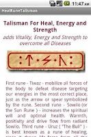 Screenshot of Healing Talisman Widget
