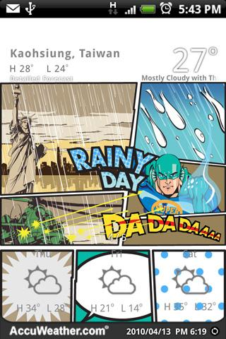 9s-Weather Theme+(Comics) - screenshot
