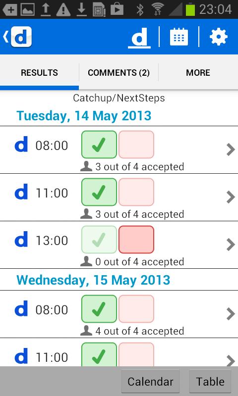 Doodle: easy scheduling - screenshot