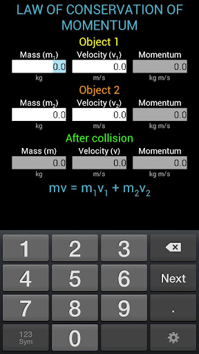 Momentum Calculator