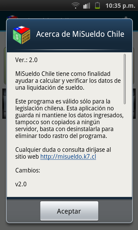MiSueldo Chile - screenshot