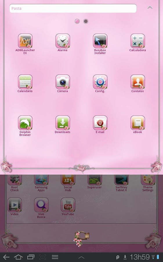 Pink Roses Theme for TABLETs - screenshot