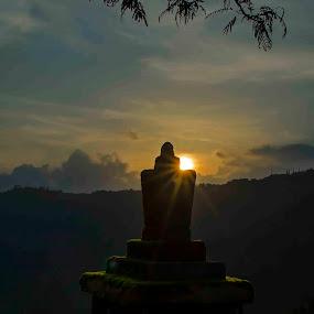Faith at the setting Sun by Pritam Saha - Landscapes Sunsets & Sunrises ( sunset, landscape,  )