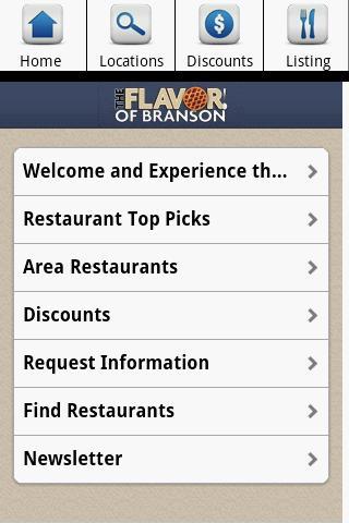 Branson Restaurants- screenshot