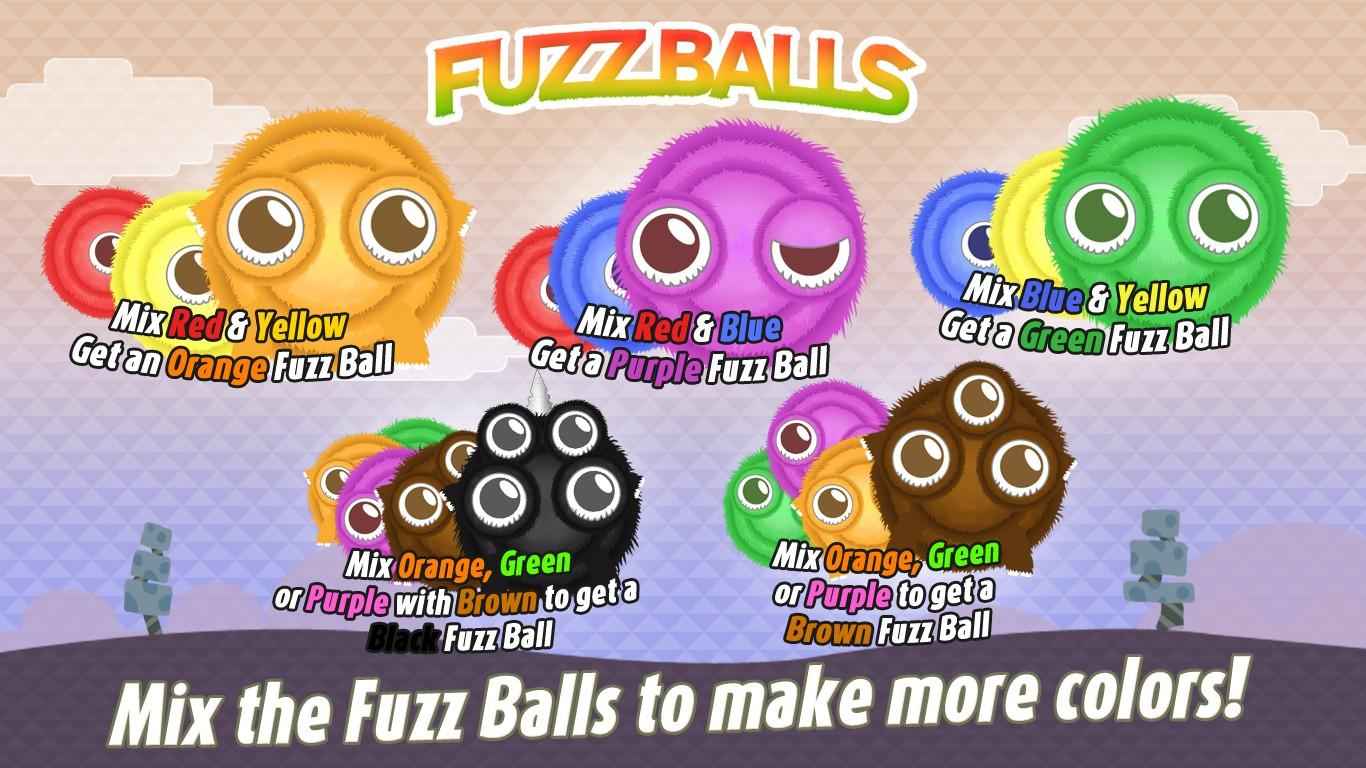 Game for colors - Fuzzballs The Hilarious Color Mixing Game Screenshot