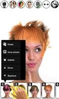 Screenshot of Magic Mirror Demo, Hair styler
